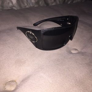e0ef0be3c33 Prada Accessories - EUC Prada Milano Sunglasses Black Wrap w  Case